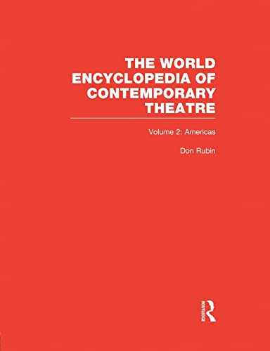 World Encyclopedia of Contemporary Theatre By Arthur Holmberg