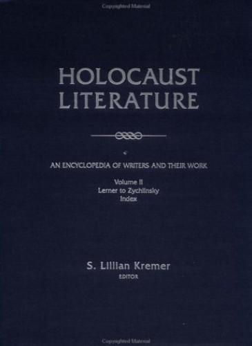 Holocaust Literature V2 By KRAMER S L