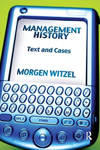 Management History By Morgen Witzel (University of Exeter, UK)
