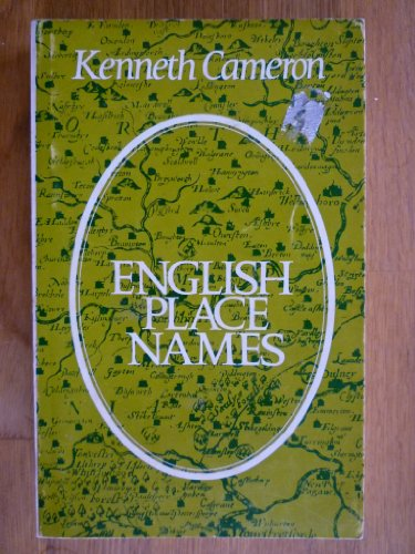 English Place Names By Kenneth Cameron