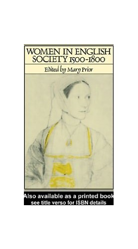 Women in English Society By Mary Prior