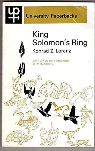 King Solomon's Ring (University Paperbacks) By Konrad Lorenz
