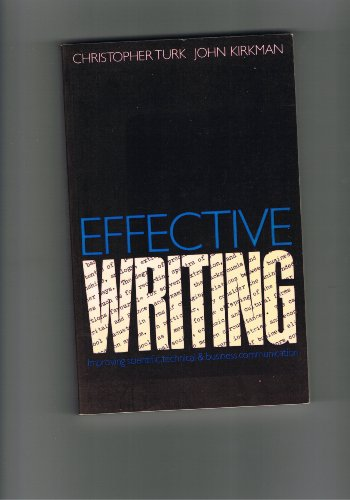 Effective Writing By C. Turk