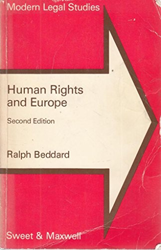 Human Rights and Europe By Ralph Beddard