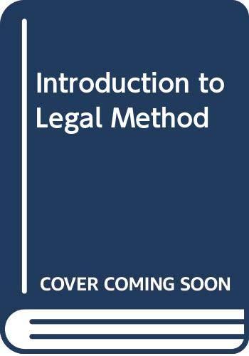 Introduction to Legal Method By John H. Farrar