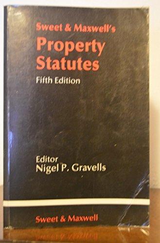 Property Statutes By Nigel P. Gravells