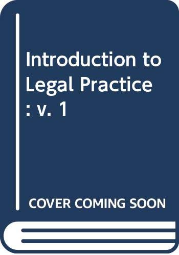 Introduction to Legal Practice By Volume editor Craig Osborne