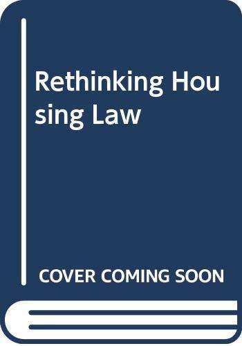 Rethinking Housing Law By A Stewart