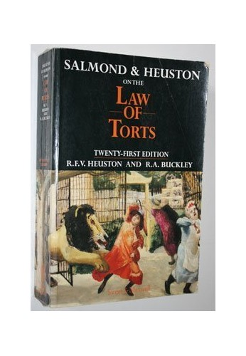 Salmond and Heuston on the Law of Torts By R.F.V. Heuston