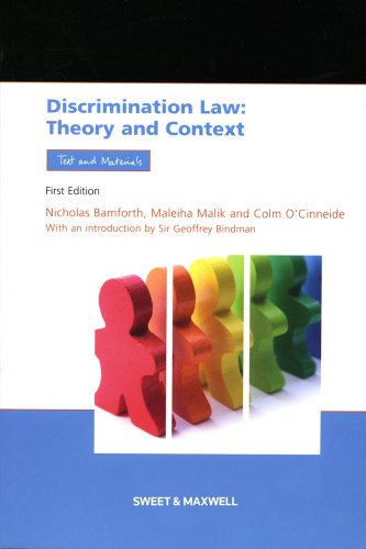 Discrimination Law: Theory and Context, Text and Materials (Socio-legal Series) By Nicholas Bamforth