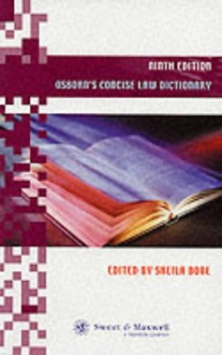 Osborn's Concise Law Dictionary By Sheila Bone