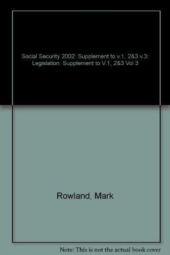 Social Security By Mark Rowland