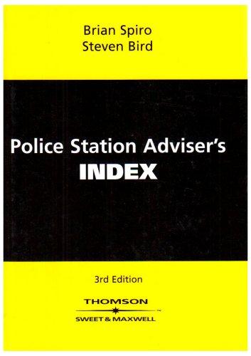 Police Station Adviser's Index By Brian Spiro