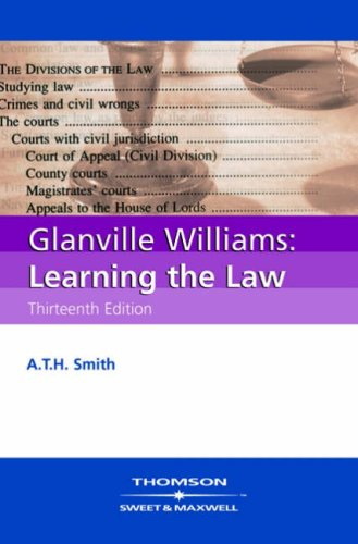 Glanville Williams Learning the Law By Glanville L. Williams