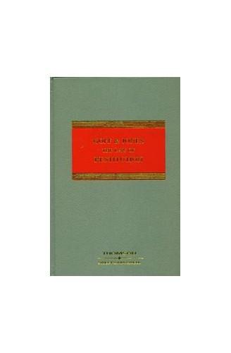Goff & Jones: The Law of Restitution: Mainwork and Supplement By Gareth Jones