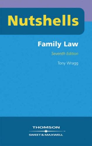 Nutshells Family Law By Tony Wragg