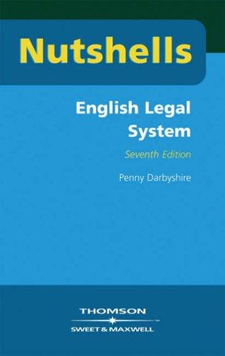 Nutshells English Legal System By Penny Darbyshire