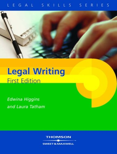 Successful Legal Writing By Edwina Higgins