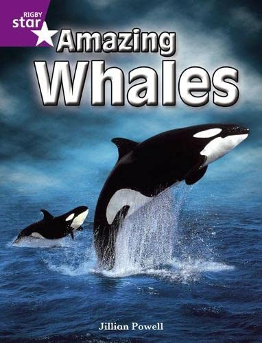 Rigby Star Independent Year 2 Purple Non Fiction: Amazing Whales Single By Jillian Powell