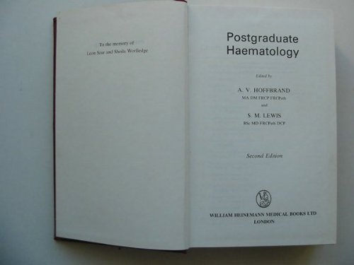 Postgraduate Haematology By A. Victor Hoffbrand
