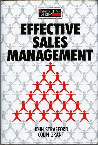 Effective Sales Management By John Strafford