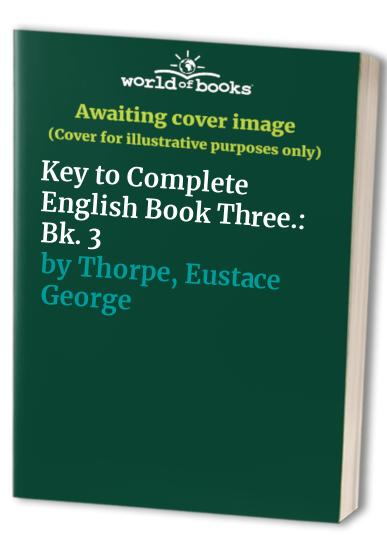 Complete English By Eustace George Thorpe