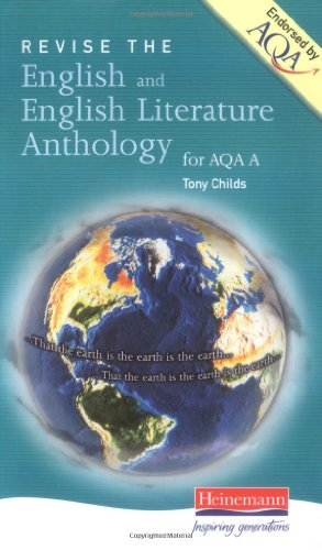 A Revise English & English Literature Anthology for AQA By Tony Childs