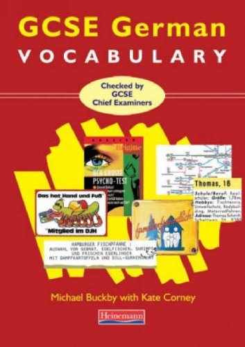 GCSE German Vocabulary By Michael Buckby