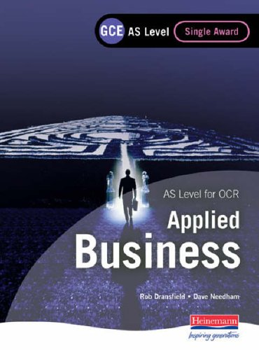 GCE AS Level Applied Business Single Award for OCR By Rob Dransfield