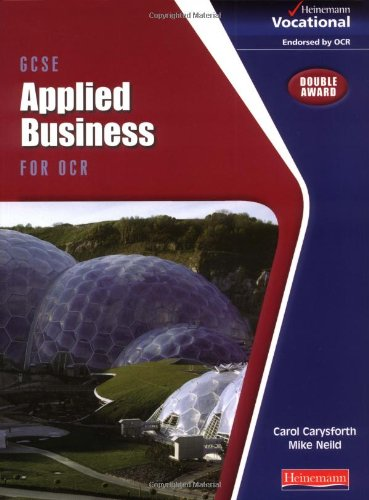 GCSE Applied Business OCR: Student Book By Carol Carysforth