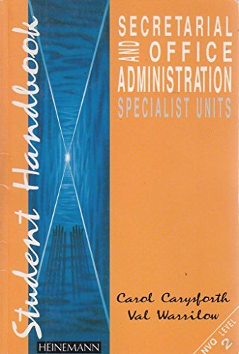Secretarial and Ofice Administration By Carol Carysforth