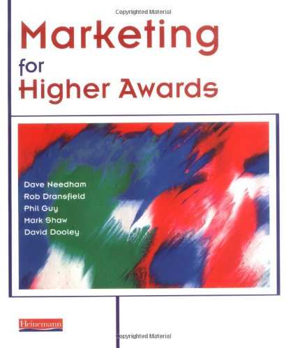 Marketing For Higher Awards By David Needham