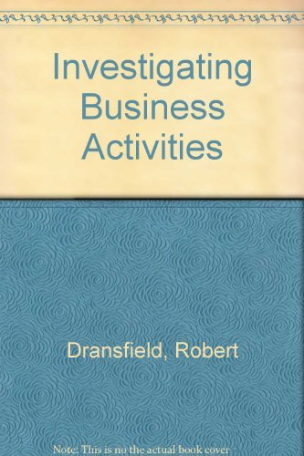 Investigating Business Activities By Robert Dransfield