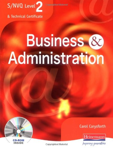S/NVQ Level 2 Business and Administration Student Book By Edited by Carol Carysforth