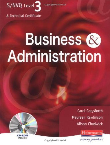 S/NVQ Level 3 Business & Administration Student Book By Carol Carysforth