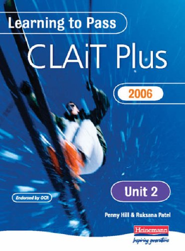 Learning to Pass CLAIT Plus 2006 (Level 2) UNIT 2 Manipulating Spreadsheets & Graphs By Penny Hill