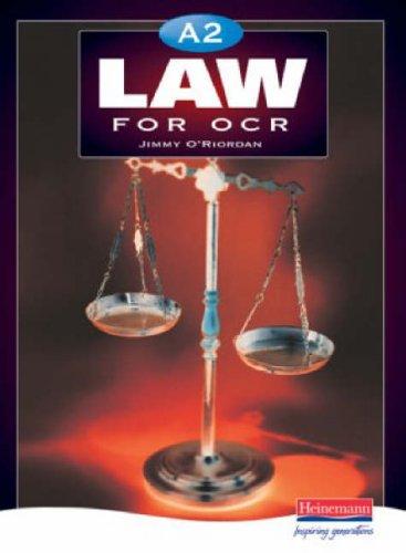 A2 Law for OCR By Jimmy O'Riordan