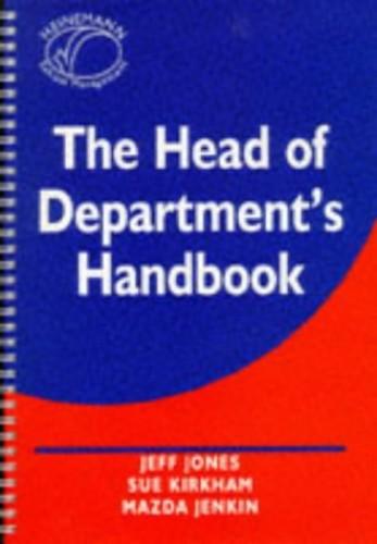 The Head of Department's Handbook By Jeff Jones