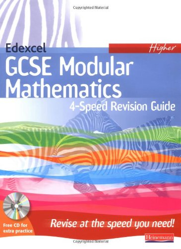 4-Speed Revision for Edexcel GCSE Maths Modular Higher By Pearson Education
