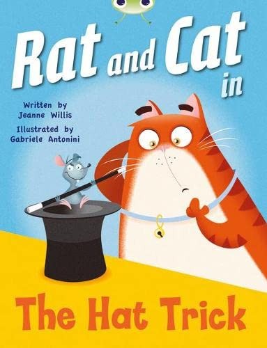 Bug Club Guided Fiction Reception Red A Rat and Cat in the Hat Trick By Jeanne Willis