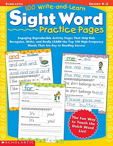 100 Write-and-Learn Sight Word Practice Pages By Edited by Terry Cooper (University of Southern California USA)