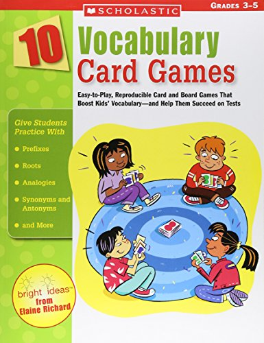 10 Vocabulary Card Games By Elaine Richard