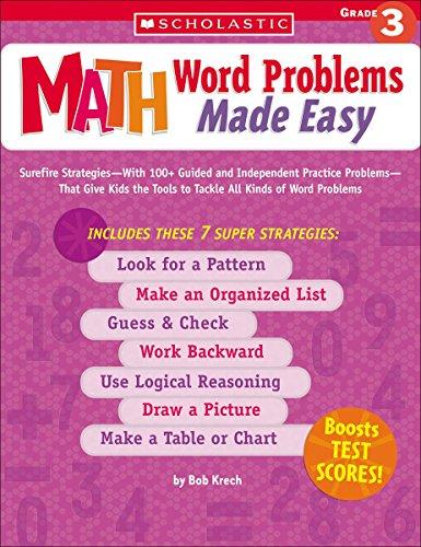 Math Word Problems Made Easy: Grade 3 By Bob Krech