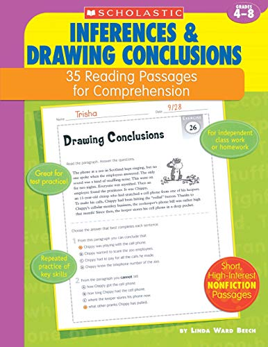 35 Reading Passages for Comprehension: Inferences & Drawing Conclusions By Linda Ward Beech