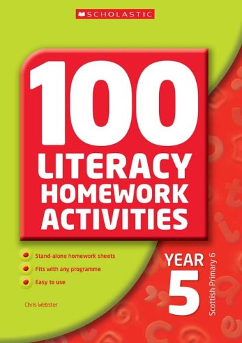 100 Literacy Homework Activities Year 5 By Chris Webster