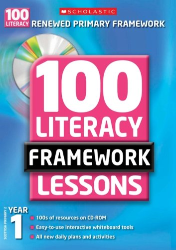 100 New Literacy Framework Lessons for Year 1 with CD-Rom by Jean Evans