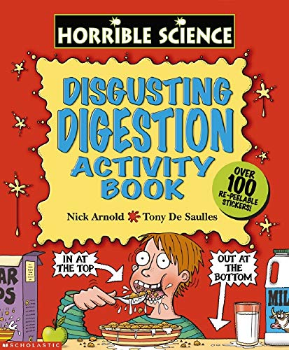 Disgusting Digestion Sticker-Activity Book By Nick Arnold