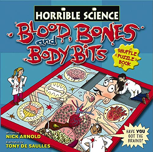 Blood, Bones and Body Bits Shuffle Puzzle Book By Nick Arnold