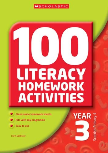 100 Literacy Homework Activities Year 3 By Chris Webster