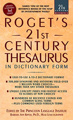 Roget's 21st Thesaurus 3rd Edition By Barbara Ann Kipfer